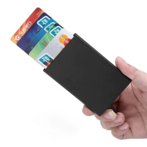 Aluminium credit card pop-up wallet